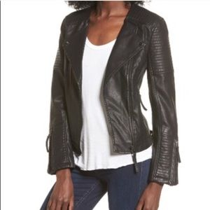 TOPSHOP faux leather moto jacket vegan size 10